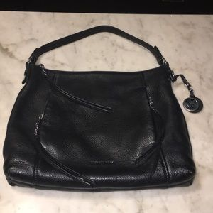 Michael Kors Black Pebbled Leather Hobo Bag